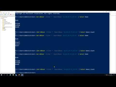 Using PowerShell - Count of users in a specific OU