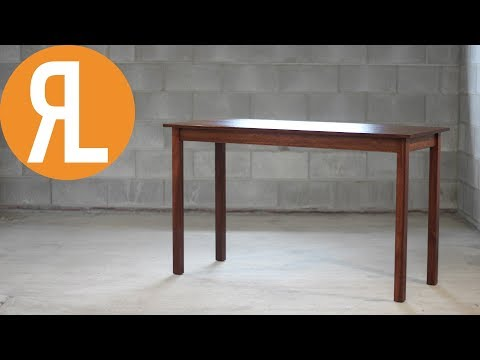 Simple Writing Desk From Reclaimed Jarrah