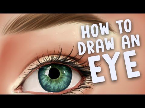 HOW TO DRAW AN EYE (Bonus Video) | Paint Tool SAI Tutorial | Jenna Drawing