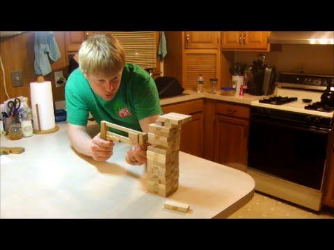 Jenga Pistol Build from Woodgears - Matthias Wandel