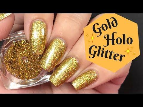 ✨ Gold Glitter Nail Tutorial! (Burnishing Technique)  ✨