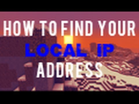 How to find your local ip address for your multiplayer minecraft server