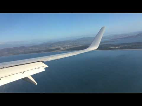 Virgin Australia Flight Landing in Hobart Airport