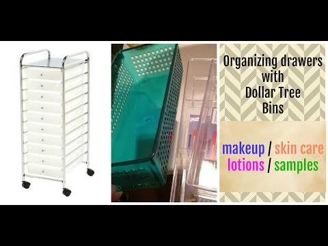 Organizing a Rolling Cart with Dollar Tree Bins ~ Cheap Bathroom Storage for Small Spaces