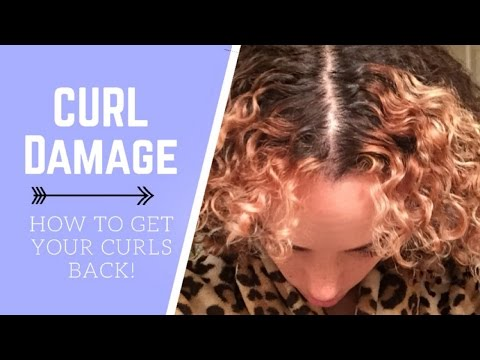 I KILLED MY CURLS!!! | HEAT AND DYE DAMAGE CHAT