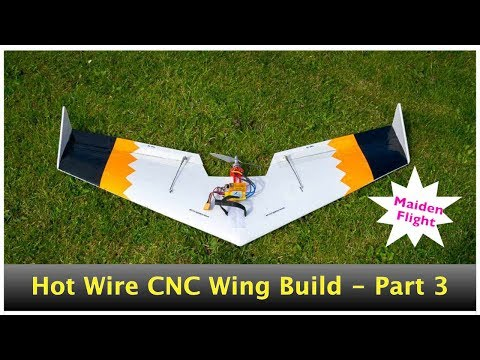 Flying Wing Crash, Search, Recovery and Rebuild with HotWire CNC machine - Part 3