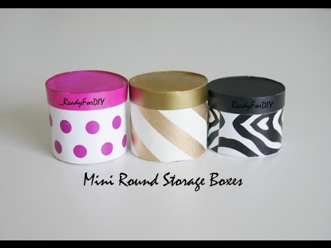 DIY Mini Round Storage Boxes - Recycling Cardboard