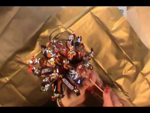 Tutorial on how to make a bouquet of Chocolates