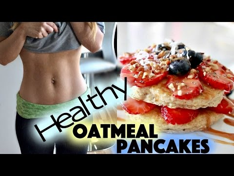 How TO: FLUFFY OATMEAL PANCAKES | Healthy Breakfast Recipe | Fit Pancakes