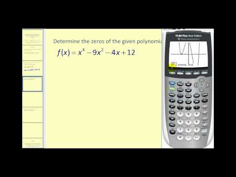 Determining the Real Zeros of a Polynomial Function on the TI83/84