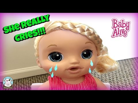 Baby Alive Crying doll Sweet Tears unboxing
