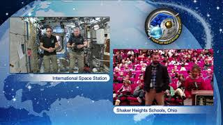 Space Station Crew Discusses Life in Space with Ohio Students