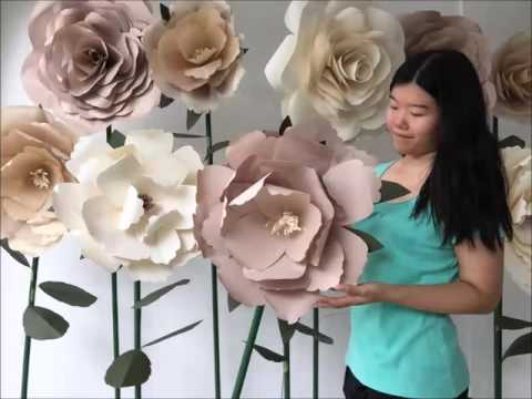 [DIY] Standing Huge Paper Flowers by Evermore Flower