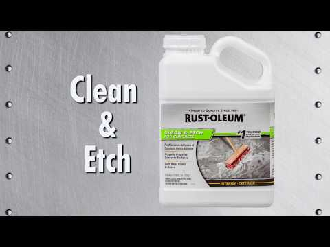 Prepare Your Concrete Floor with Rust-Oleum Clean & Etch