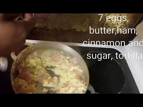 How to make Eggs and Ham Breakfast Taco