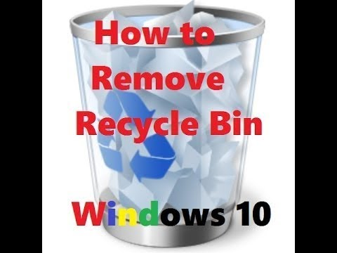 How to remove recycle bin from desktop (windows 7, 8 and 8.1 and windows 10)