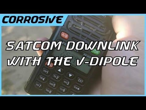 Satcom Downlink on Bunny Ear V-Dipole Antenna