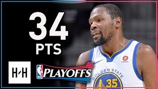 Kevin Durant Full Game 4 Highlights Warriors vs Spurs 2018 Playoffs - 34 Points, 12 Reb!
