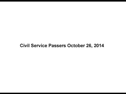 List of Civil Service Passers October 2014 Professional