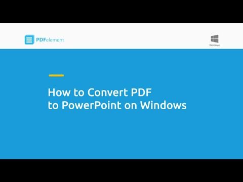 How to Convert PDF to Powerpoint on Windows