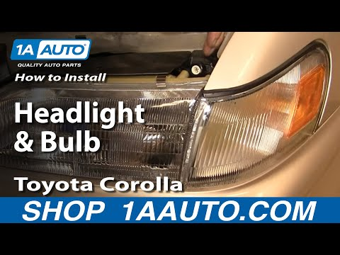 How To Install Replace Headlight and Bulb Toyota Corolla 94-97 1AAuto.com