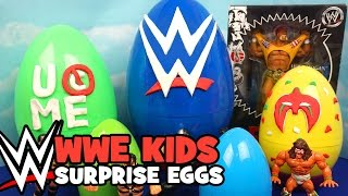 WWE Toys - WWE Surprise Eggs ft. WWE Stackdown Blind Bags - John Cena Figure & Hulk Hogan WWE Toys
