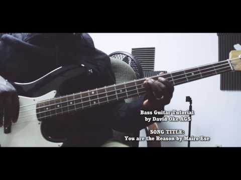 Bass Guitar tutorial -  You are the Reason by Mairo Ese