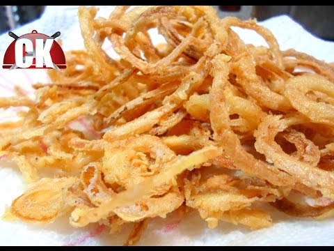 How to make Crispy Onion Rings - French Fried Onions!