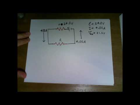 Consider the circuit shown in Fig. E25.28. The terminal voltage of the 24.0-V