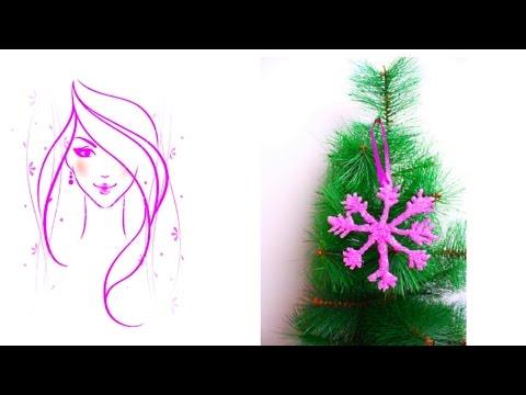 MORENA DIY: HOW TO MAKE  CHRISTMAS TREE SNOWFLAKE ORNAMENT