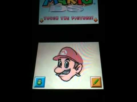 How to unlock Luigi on the drawing part on Super Mario 64 DS