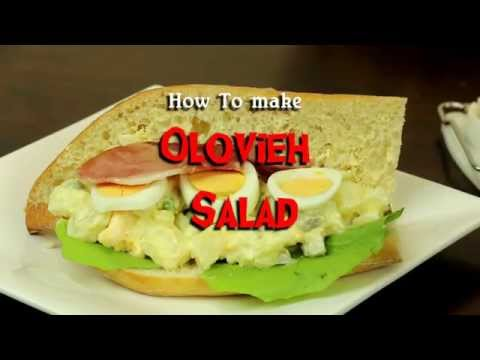 Olovier Salad Recipe _ How to Make Potato Salad _Oliver salad Persian  - سالاد الویه