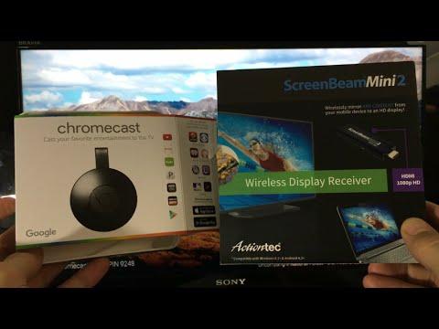 ChromeCast 2 -vs- ScreenBeam Mini 2 : Which One is Better?