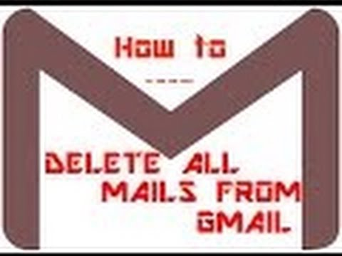 how to delete all mails at one click from gmail /how to clear inbox of mail