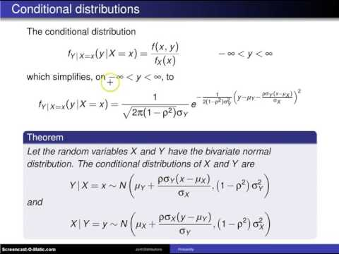 Bivariate normal distribution conditional distributions