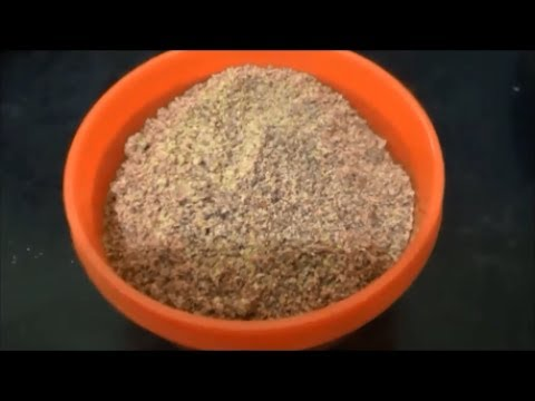How To Make Flax Seeds Powder