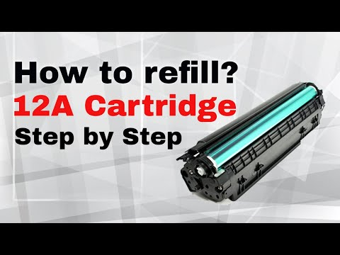 How to refill Canon 325 Cartridge