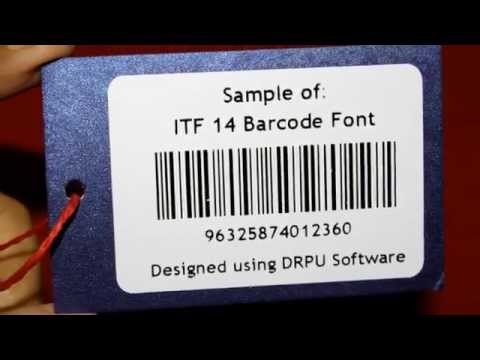 Easy to understand linear ITF 14 Barcode Label designing process