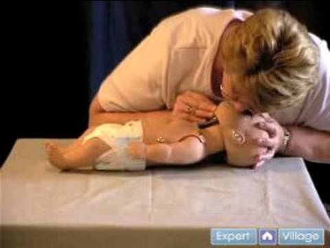 First Aid & CPR Basics : CPR Chest Compressions for Infants