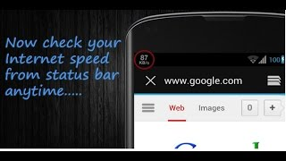 How To Show Internet Speed on Status Bar   No Root