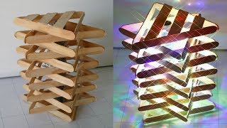 Download DIY ROOM DECOR! How to Make a Popsicle Stick Lamp / Easy Crafts Ideas at Home Video