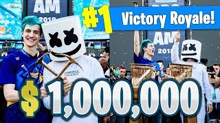 Ninja And Marshmellow Win $1,000,000 At Fortnite Celebrity Pro-am Tournament! Best Moments