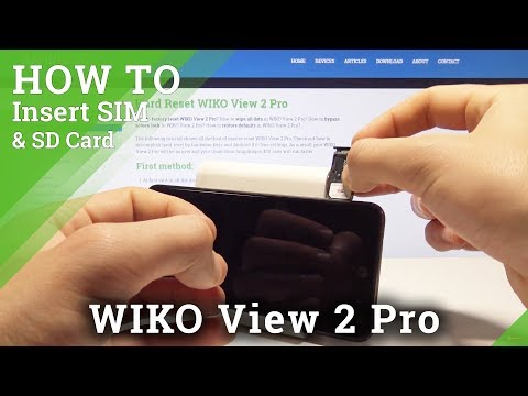 How to Install SIM and SD Card in WIKO View 2 Pro - Set Up SIM & SD