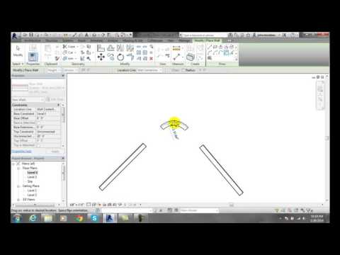 Revit 03-15 Sketching Fillet Arc Wall Profiles