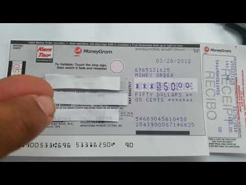 How to write a money order.