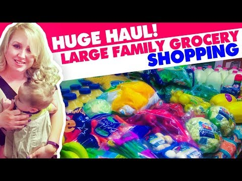 HUGE HAUL! Large Family Grocery Shopping $788 Walmart Pick Up Order!