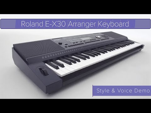 Download Roland E-X30 | Style and Voice Demo