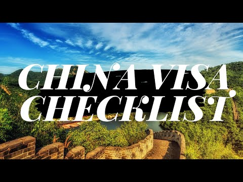 Apply China Visa Online | Documents Check-list for Indian Citizen