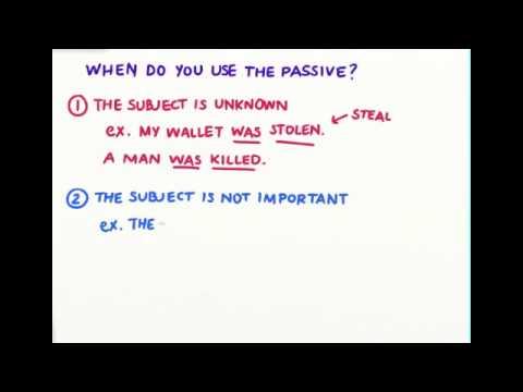 When do you use passive voice?