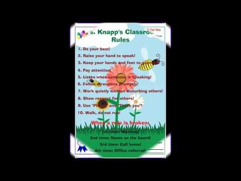 Classroom Behavioral Management Plan by Deana Knapp